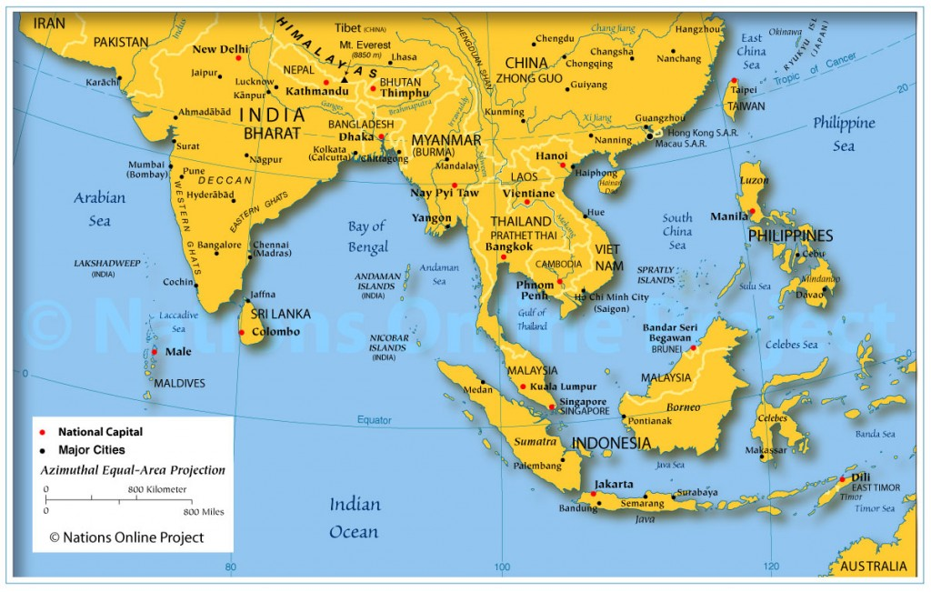 Map of Southeast Asia.