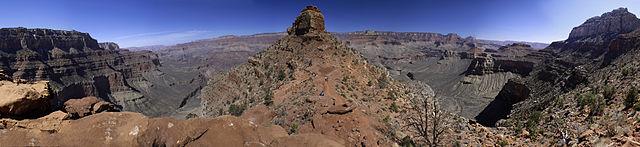 Udsigten fra turen op ad South Kaibab Trail, Grand Canyon.